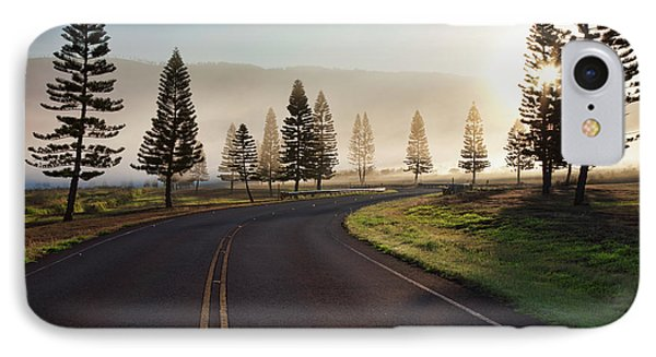 Early Morning Fog On Manele Road IPhone Case
