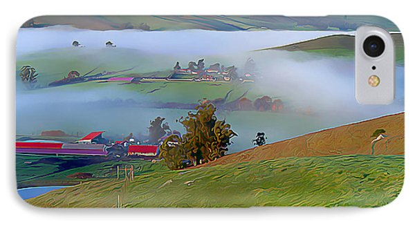 Early Morning Fog Over Two Rock Valley IPhone Case by Wernher Krutein