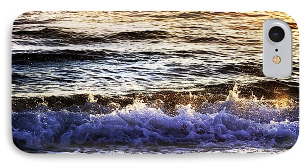 IPhone Case featuring the photograph Early Morning Frothy Waves by Amyn Nasser