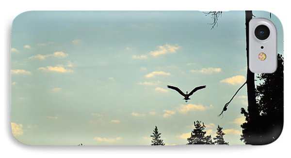 Early Morning Heron In Silhouette Phone Case by Rich Rauenzahn