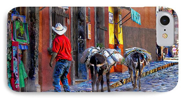 IPhone Case featuring the photograph Early Morning In Centro by John  Kolenberg