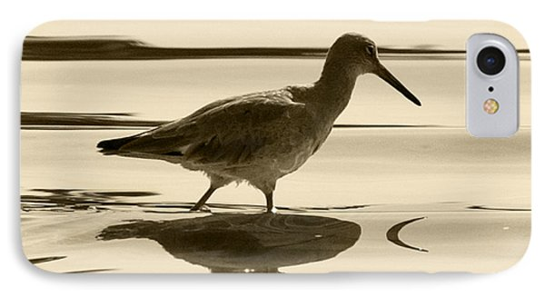 Early Morning In The Moss Landing Harbor Picture Of A Willet Phone Case by Artist and Photographer Laura Wrede