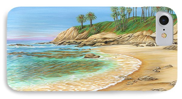 IPhone Case featuring the painting Early Morning Laguna by Jane Girardot