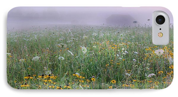 IPhone Case featuring the photograph Early Morning Meadow by Wanda Krack