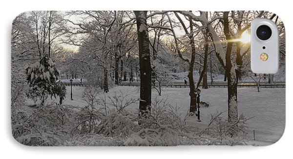 IPhone Case featuring the photograph Early Morning Sun In Central Park.  by Winifred Butler
