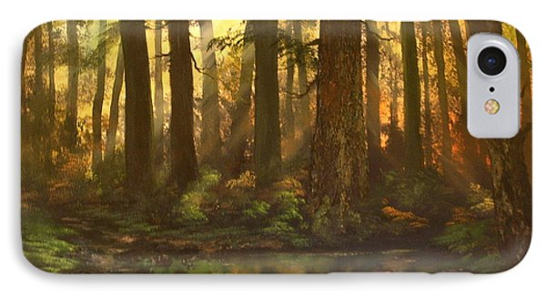 Early Morning Sun On Cannock Chase IPhone Case by Jean Walker