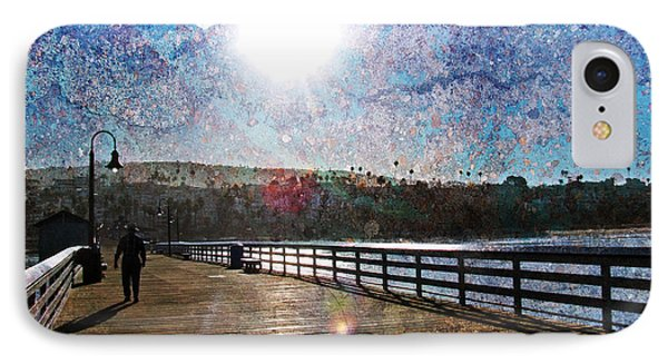 Early Morning Walk On The Pier Phone Case by Traci Lehman