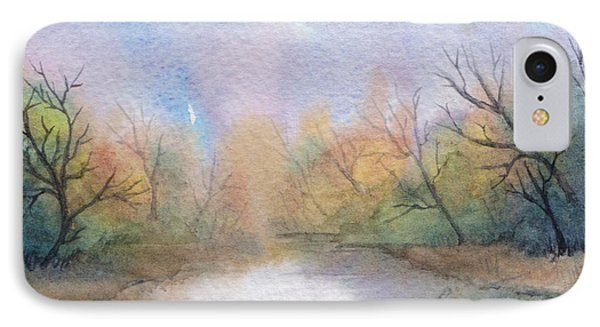 IPhone Case featuring the painting Early Morning Waterway by Rebecca Davis