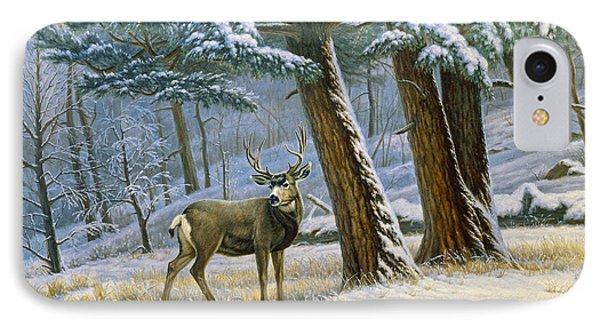 Early Snow- Mule Deer Phone Case by Paul Krapf
