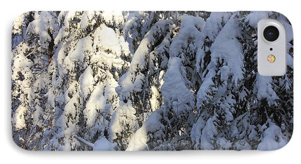 Early Snowfall IPhone Case by Jim Sauchyn