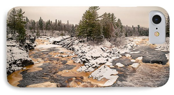 Early Snowfall On The Saint Louis River IPhone Case by Mark David Zahn