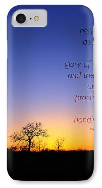 Early Spring Oak Psalms 19 IPhone Case
