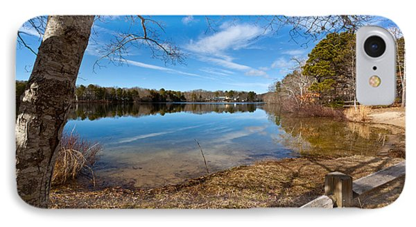 Early Spring On Long Pond Phone Case by Michelle Wiarda