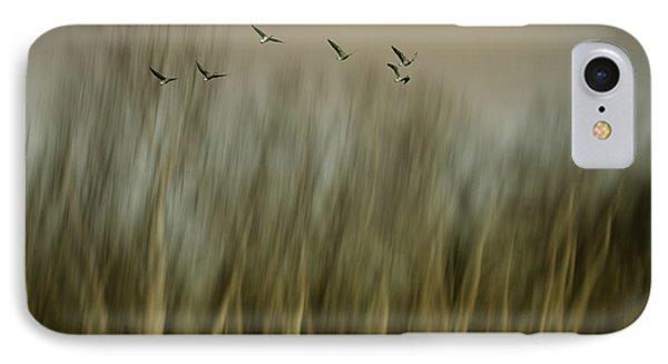 Geese iPhone 7 Case - Early Spring Vision... by Yvette Depaepe