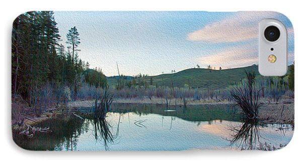 Early Sunset On A Beaver Pond  Phone Case by Omaste Witkowski