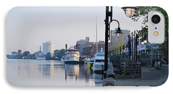 IPhone Case featuring the photograph Early Morning Walk Along The River by Bob Sample