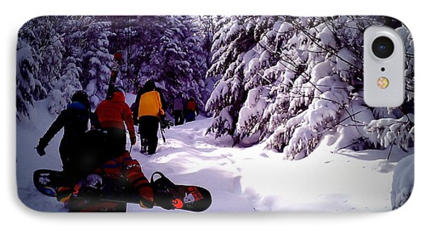 IPhone Case featuring the photograph Earning Turns by James Aiken
