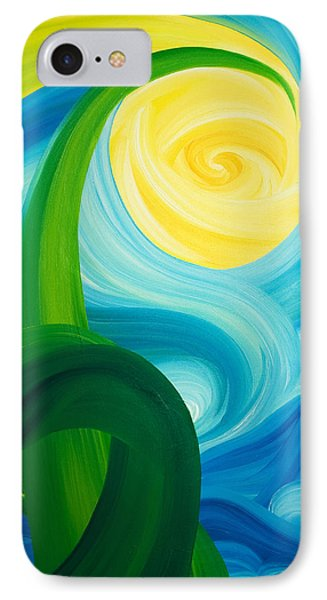 IPhone Case featuring the painting Earth And Sky Meet by Ginny Gaura