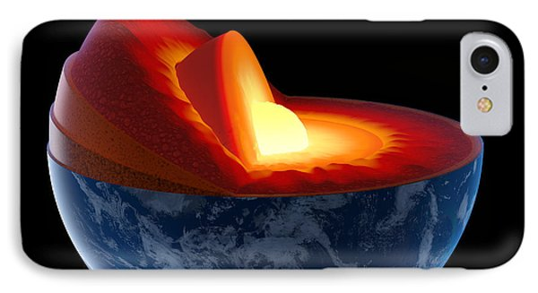 Earth Core Structure - Isolated Phone Case by Johan Swanepoel