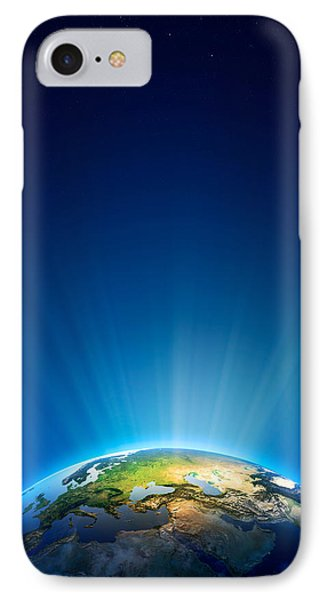 Earth Radiant Light Series - Europe IPhone Case