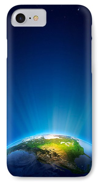 Earth Radiant Light Series - North America IPhone Case