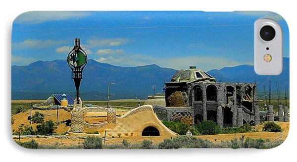 Earth Ships Of New Mexico IPhone Case by Cindy Croal