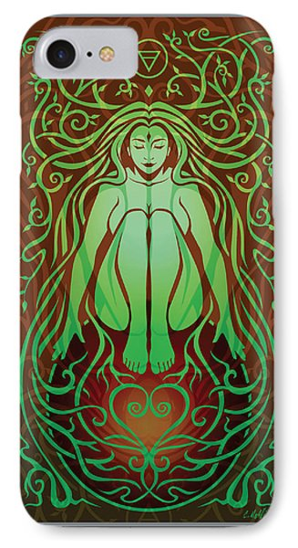 Earth Spirit V.2 IPhone Case by Cristina McAllister