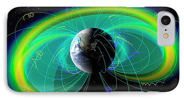 Earth's Radiation And Plasma Belts IPhone Case by Nasa/scientific Visualization Studio