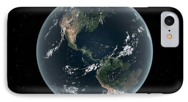 Earths Western Hemisphere With Rise Phone Case by Walter Myers