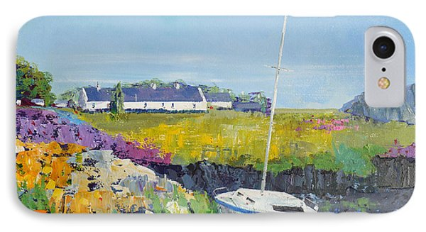 Easdale Cottages Phone Case by Peter Tarrant