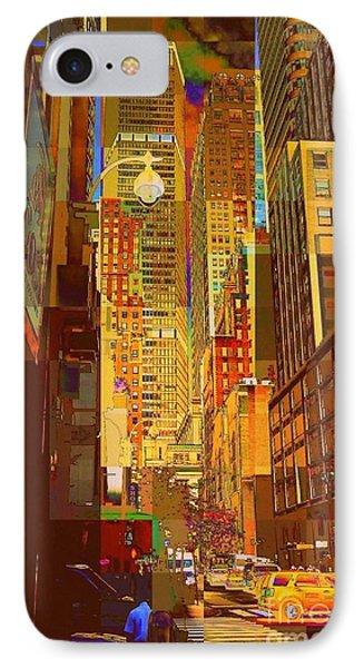 East 45th Street - New York City IPhone Case by Miriam Danar