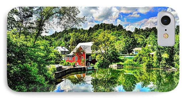 East Calais Mill Pond IPhone Case by John Nielsen