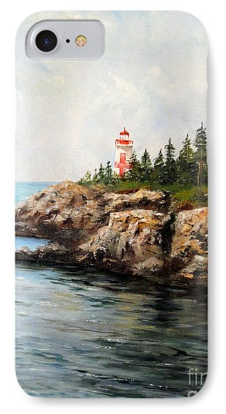 East Quoddy Head Light Phone Case by Lee Piper