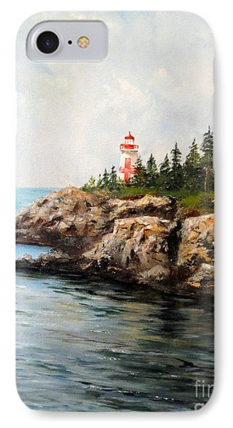 IPhone Case featuring the painting East Quoddy Head Light by Lee Piper