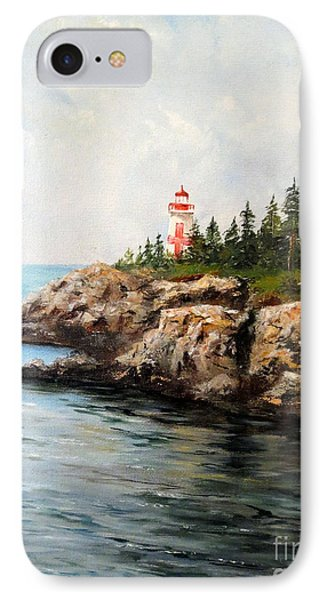 East Quoddy Head Light IPhone Case by Lee Piper