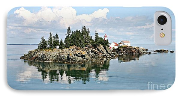 East Quoddy Lighthouse Summer Afternoon IPhone Case by Brenda McGee-Paap