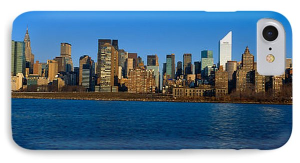 East River And New York Skyline, View IPhone Case