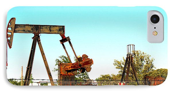 East Texas Oil Field Phone Case by Kathy  White