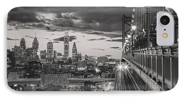 Eastbound Encounter In Black And White IPhone Case by Eduard Moldoveanu