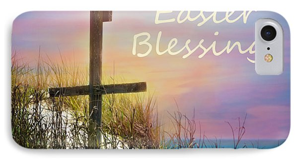 Easter Blessings Cross IPhone Case by Sandi OReilly