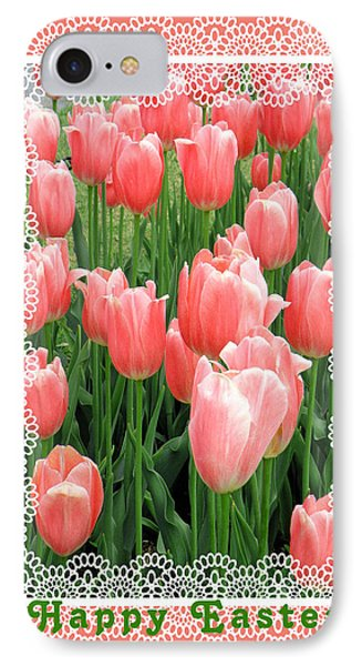 Easter Card With Tulips Phone Case by Rosalie Scanlon