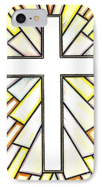 Easter Cross 3 IPhone Case by Jim Harris