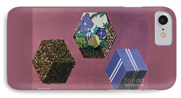 IPhone Case featuring the painting Easter Cubes - Painting by Megan Dirsa-DuBois