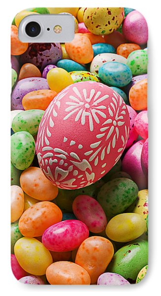 Easter Egg And Jellybeans  IPhone Case by Garry Gay