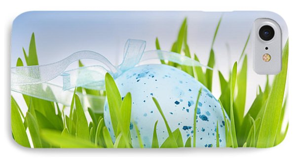Easter Egg In Grass IPhone Case by Elena Elisseeva