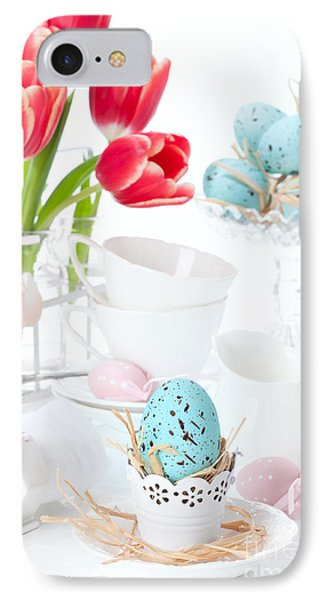 Easter Egg Setting IPhone Case by Amanda Elwell