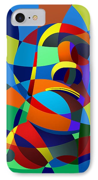 IPhone Case featuring the digital art Easter Island by Randall Henrie