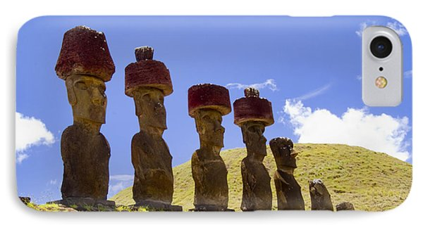 Easter Island Statues  IPhone Case by David Smith