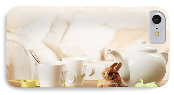 Easter Tea Break IPhone Case by Amanda Elwell