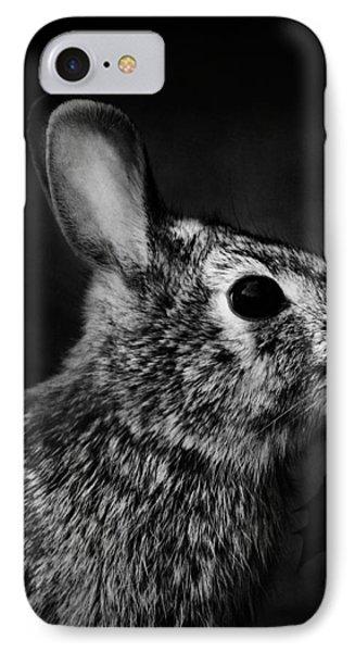 Eastern Cottontail Rabbit Portrait Phone Case by Rebecca Sherman